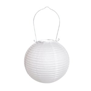 Lanterna de Papel Luminosa Branca 20cm - 01 unidade - Cromus - Rizzo Festas