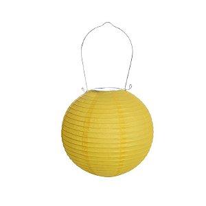 Lanterna de Papel Luminosa Amarela 20cm - 01 unidade - Cromus - Rizzo Festas
