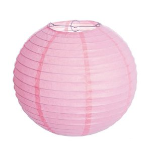 Lanterna de Papel Luminosa Rosa 20cm - 01 unidade - Cromus - Rizzo Festas