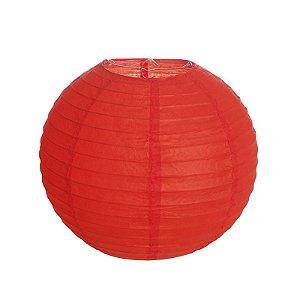 Lanterna de Papel Vermelho 25cm - 01 unidade - Cromus - Rizzo Festas