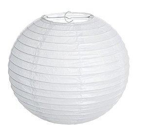 Lanterna de Papel Branco 35cm - 01 unidade - Cromus - Rizzo Festas