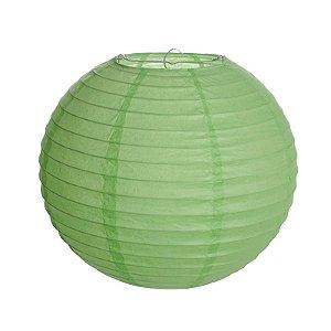 Lanterna de Papel Verde 35cm - 01 unidade - Cromus - Rizzo Festas