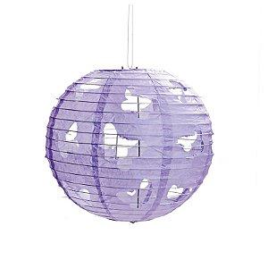 Lanterna de Papel Borboleta Lilás 30cm - 01 unidade - Cromus - Rizzo Festas