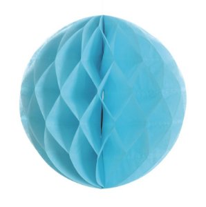 Globo de Papel Colméia Azul 25cm - 01 unidade - Cromus - Rizzo Festas