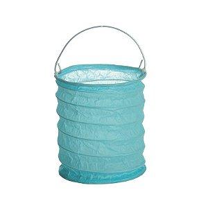 Lanterna de Papel para Vela Eletrônica Azul 8x9cm - 01 unidade - Cromus - Rizzo Festas