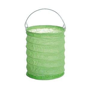 Lanterna de Papel para Vela Eletrônica Verde 10x15cm - 01 unidade - Cromus - Rizzo Festas