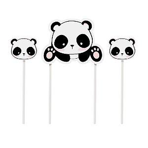 Kit Topo De Bolo Festa Panda - Cromus - Rizzo Festas