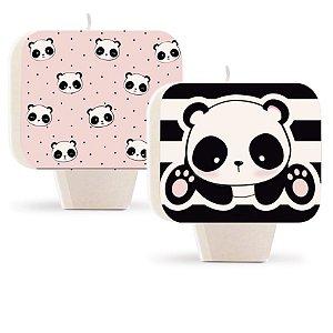 Vela Dupla Face Festa Panda - Cromus - Rizzo Festas