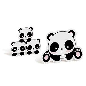 Decoração de Mesa Festa Panda - 4 unidades - Cromus - Rizzo Festas