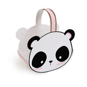 Cachepot com Alça Festa Panda - 4 unidades - Cromus - Rizzo Festas