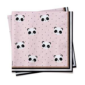 Guardanapo Festa Panda Rosa - 20 unidades - Cromus - Rizzo Festas