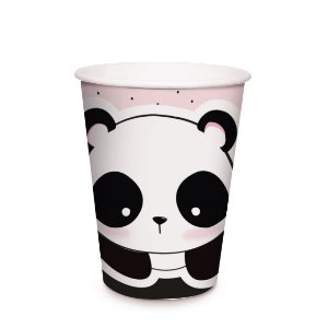 Copo de Papel Festa Panda 240Ml - 8 unidades - Cromus - Rizzo Festas