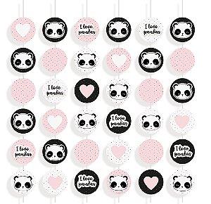 Cortina Decorativa Festa Panda - 6 unidades - Cromus - Rizzo Festas