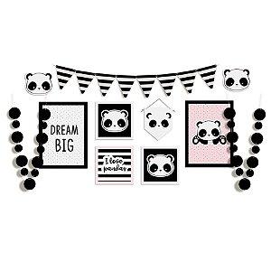 Kit Painel Desconstruido Festa Panda - Cromus - Rizzo Festas