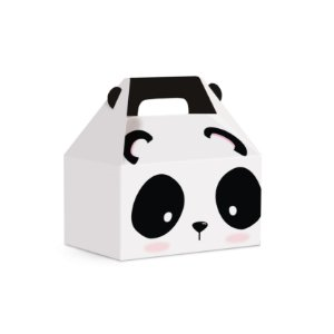 Caixa Maleta Kids Festa Panda 12x8x12cm - 10 unidades - Cromus - Rizzo Festas