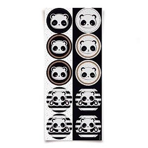 Adesivo Redondo para Lembrancinha Festa Panda - 30 unidades - Cromus - Rizzo Festas