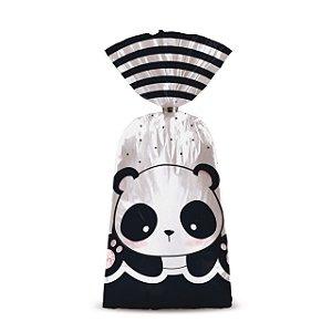 Sacolinha p Lembrancinha Festa Panda - 8 unidades - Cromus - Rizzo Festas