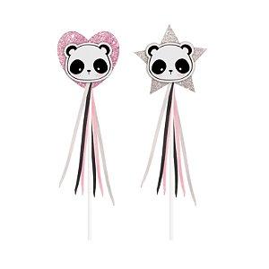 Varinha de Condão Festa Panda - 2 unidades - Cromus - Rizzo Festas
