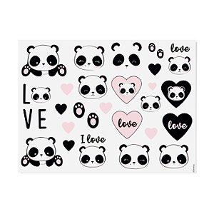 Tatuagem para Pele Lembrancinha Festa Panda - 4 unidades - Cromus - Rizzo Festas