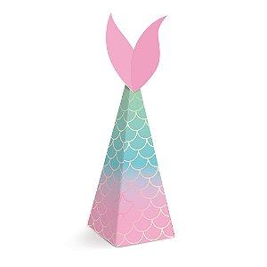 Caixa Mini Cone Festa Sereia - 8 unidades - Cromus - Rizzo Festas