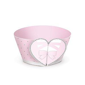 Forminha Wrap p Cupcake Festa Bailarina - Coração - 12 unidades - Cromus - Rizzo Festas