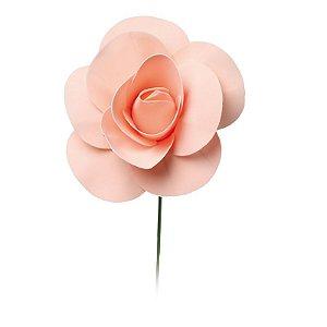 Flor Decorativa Pêssego 15cm - 01 unidade - Cromus - Rizzo Festas