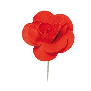 Flor Decorativa Vermelho 15cm - 01 unidade - Cromus - Rizzo Festas