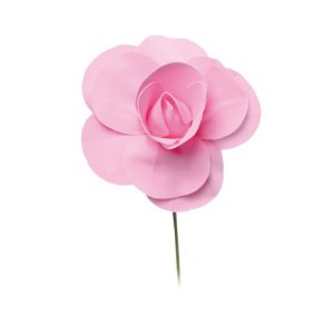 Flor Decorativa Rosa 15cm - 01 unidade - Cromus - Rizzo Festas