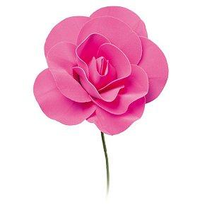 Flor Decorativa Pink 15cm - 01 unidade - Cromus - Rizzo Festas