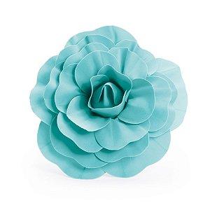 Flor Decorativa Turquesa 30cm - 01 unidade - Cromus - Rizzo Festas