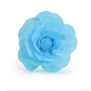 Flor Decorativa Azul 30cm - 01 unidade - Cromus - Rizzo Festas