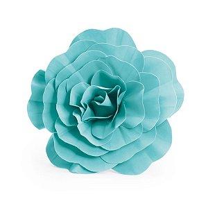 Flor Decorativa Turquesa 40cm - 01 unidade - Cromus - Rizzo Festas
