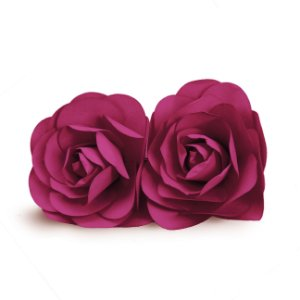Flor Decorativa de Papel Berinjela 10cm - 02 unidades - Cromus - Rizzo Festas