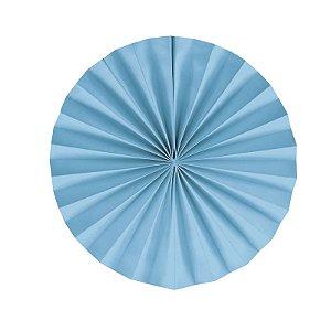 Leque Decorativo de Papel Azul 25cm - 02 unidades - Cromus - Rizzo Festas