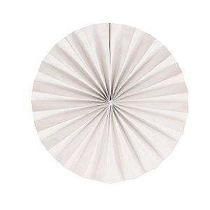 Leque Decorativo de Papel Branco 35cm - 02 unidades - Cromus - Rizzo Festas