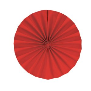 Leque Decorativo de Papel Vermelho 35cm - 02 unidades - Cromus - Rizzo Festas