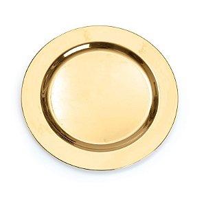 Prato G Ouro 26cm - 06 unidades - Descartáveis de Luxo - Cromus - Rizzo Festas