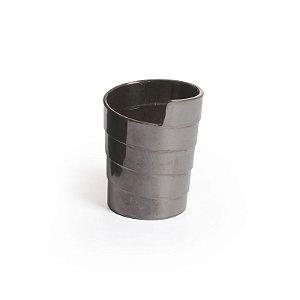 Mini Cumbuca Espiral Prata- 12 unidades - Descartáveis de Luxo - Cromus - Rizzo Festas