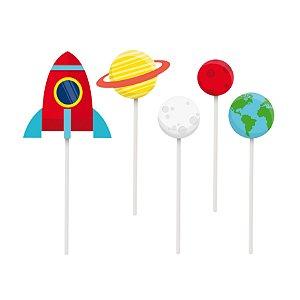 Kit Topo De Bolo Festa Astronauta Estrela - Cromus - Rizzo Festas