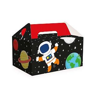 Caixa Kit Lanche Escolar Festa Astronauta - 10 unidades - Cromus - Rizzo Festas