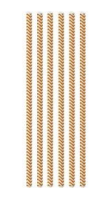 Canudo de Papel Missoni Laranja - 20 unidades - Cromus - Rizzo Festas