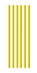 Canudo de Papel Liso Amarelo - 20 unidades - Cromus - Rizzo Festas