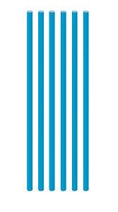 Canudo de Papel Liso Azul Royal - 20 unidades - Cromus - Rizzo Festas