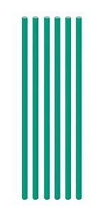 Canudo de Papel Liso Verde Bandeira - 20 unidades - Cromus - Rizzo Festas