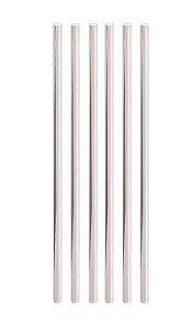 Canudo de Papel Liso Metalizado Prata - 20 unidades - Cromus - Rizzo Festas