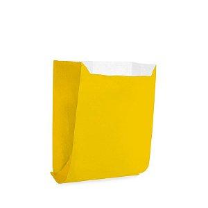 Saquinho de Papel para Mini Pizza e Hambúrguer - Liso Amarelo - 50 unidades - Cromus - Rizzo Festas