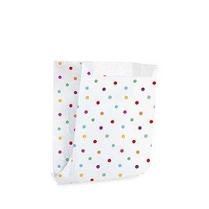 Saquinho de Papel para Mini Pizza e Hambúrguer M 10x10,5x4cm - Colorê - 50 unidades - Cromus - Rizzo Festas