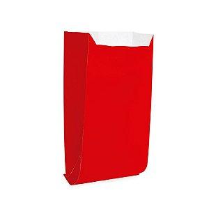 Saquinho de Papel para Pipoca e Hot Dog 14x8x4cm - Liso Vermelho - 50 unidades - Cromus - Rizzo Festas