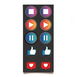 Adesivo Redondo para Lembrancinha Festa Influencer - 30 unidades - Cromus - Rizzo Festas