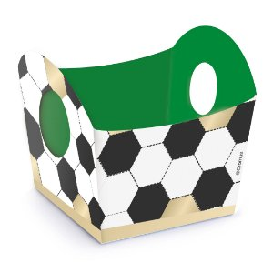 Mini Cachepot Festa Futebol - 10 unidades - Cromus - Rizzo Festas
